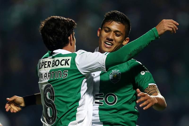 Montero festeja com André Martins