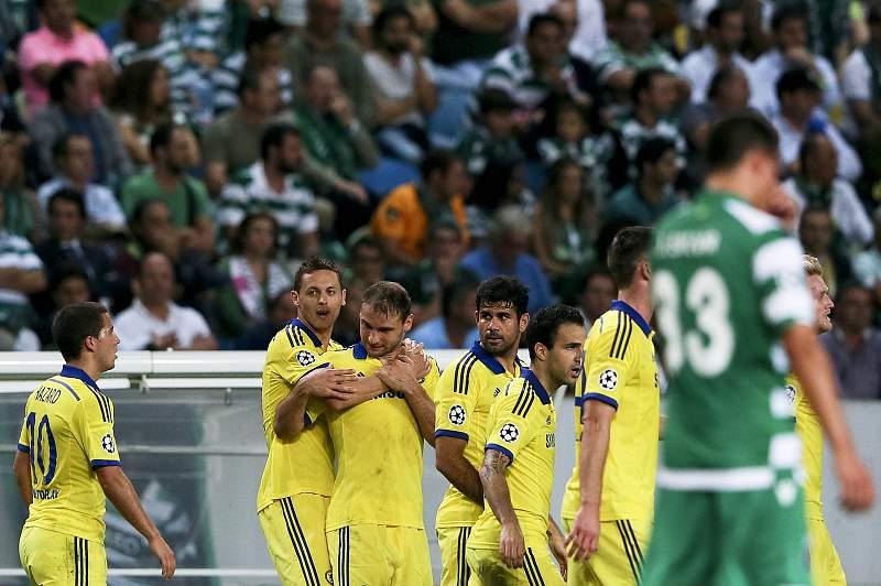 Matic festeja o golo marcado ao Sporting.