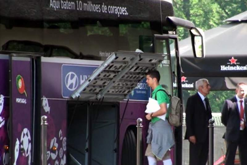 Autocarro da seleção portuguesa