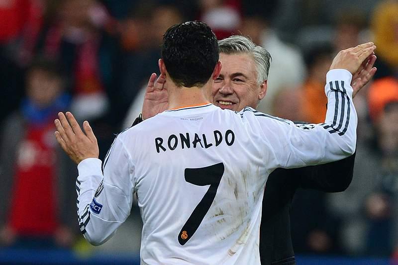 Ancelotti e Ronaldo