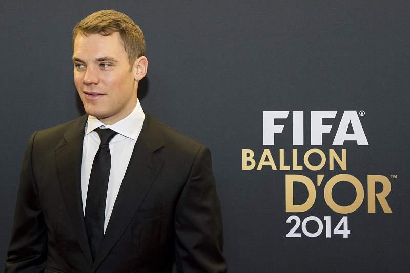 Manuel Neuer na Gala da Bola de Ouro
