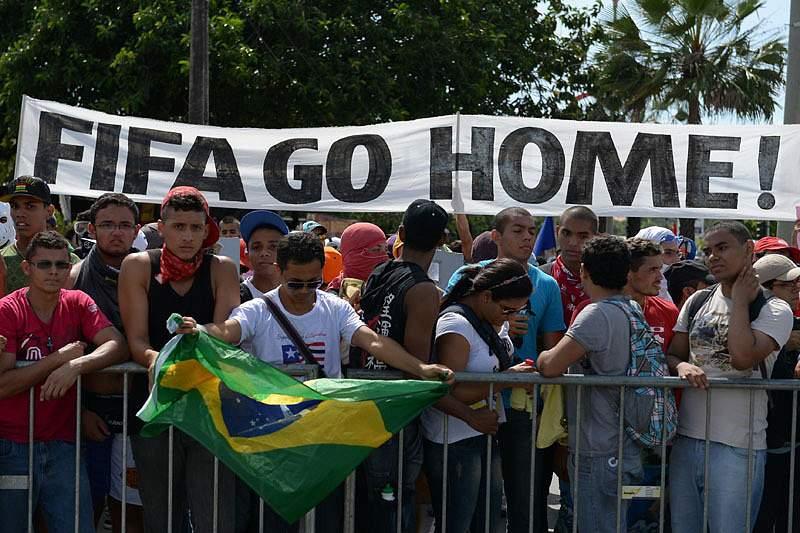 Rio de Janeiro em Manifestação contra FIFA
