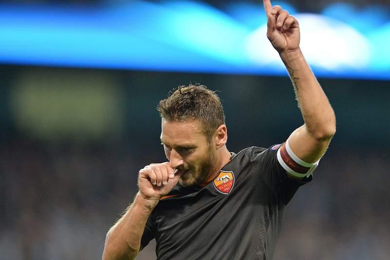 Totti fez história frente ao Manchester City