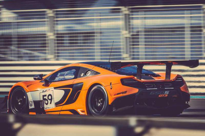 Alvaro Parente no seu McLaren 650S GT3