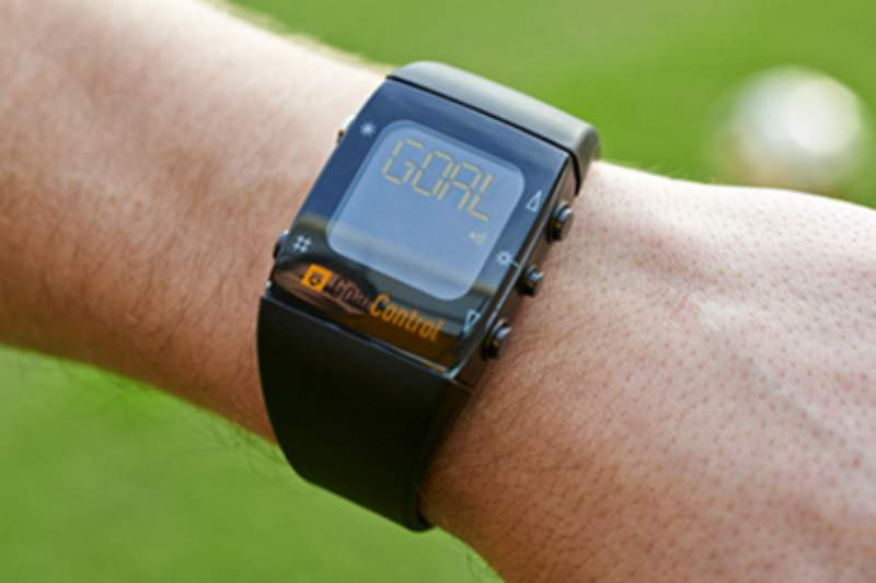 Relógio que deteta golos