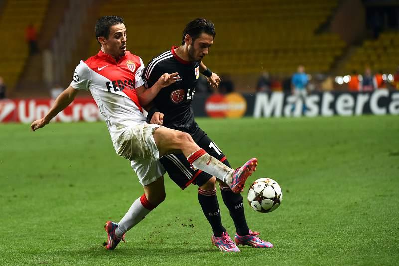 Bernardo Silva contra o Leverkusen
