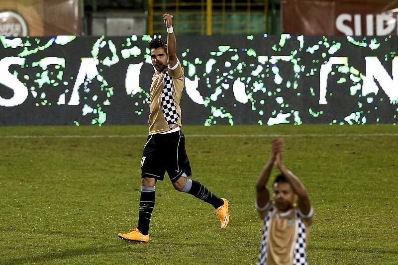Zé Manuel do Boavista celebra um golo frente ao Vitória de Setúbal