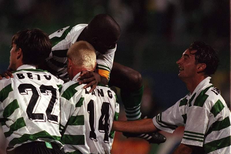 Sporting celebra na Champions de 1997