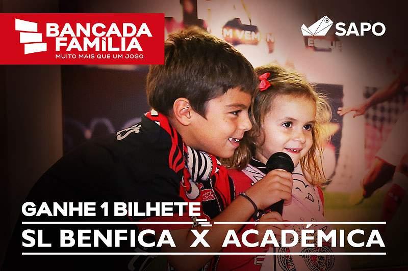 Ganhe bilhetes para o Benfica-Académica