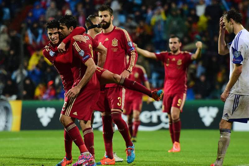 espanha festeja golo euro2016
