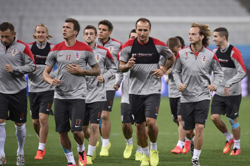 Croácia treina antes do jogo de estreia no Brasil