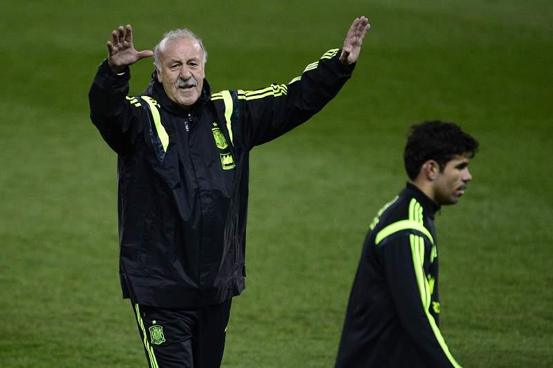 Del Bosque e Diego Costa