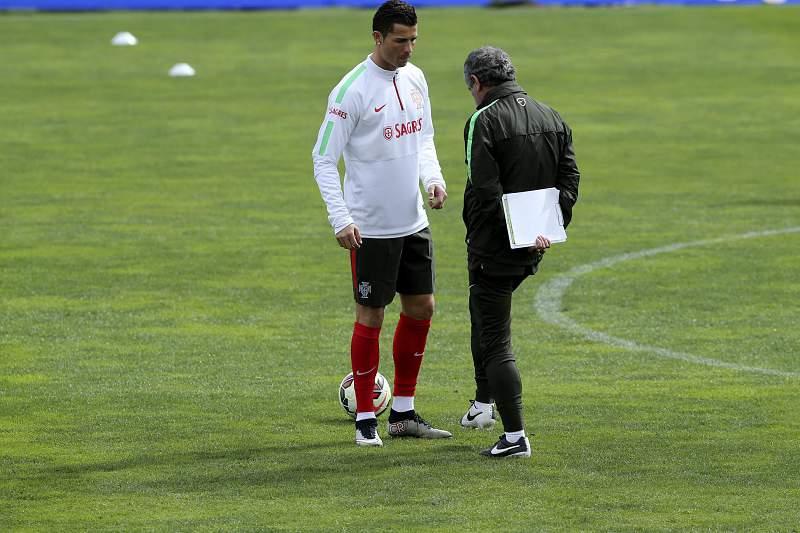 Cristiano Ronaldo e Fernando Santos