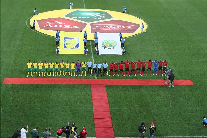 África do Sul, num jogo com Moçambique