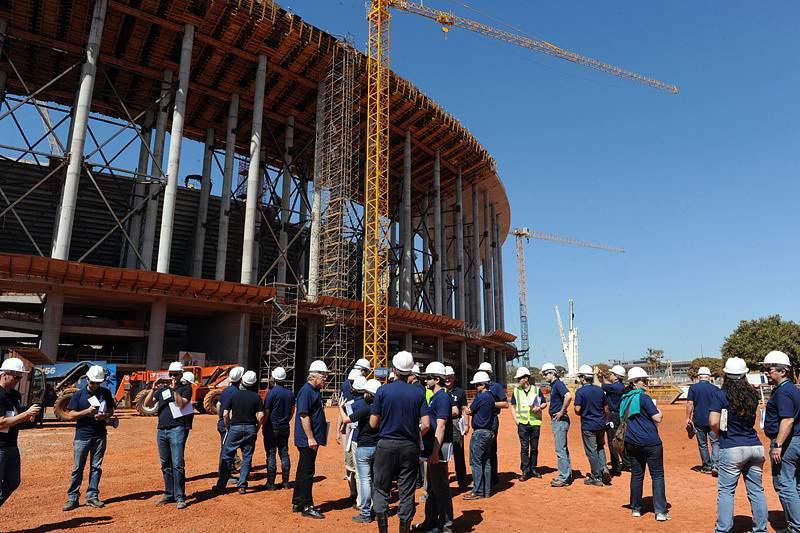 Obras no Estádio de Brasília