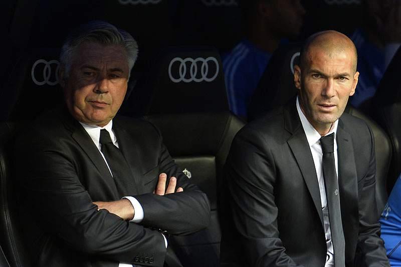 Carlo Ancelotti e Zidane
