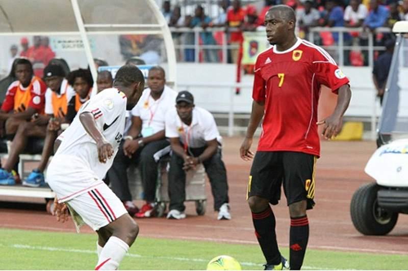 Djalma na seleção angolana
