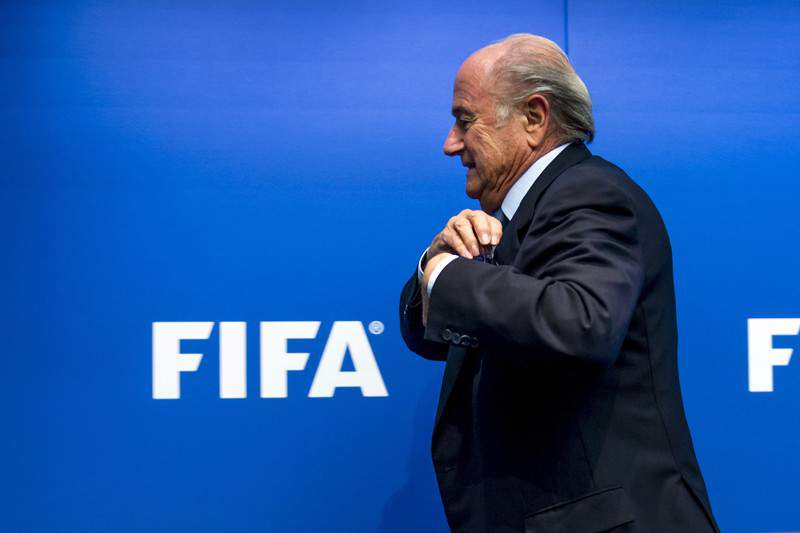 Joseph Blatter feliz com o