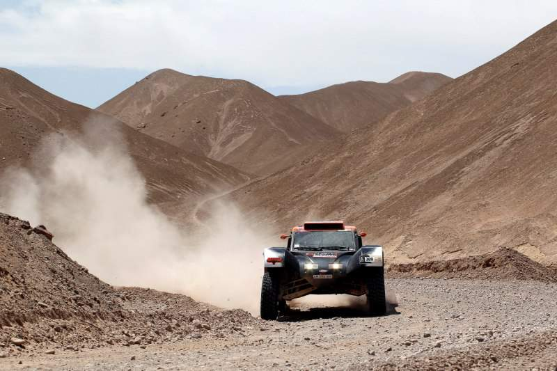 France's Guerlain Chicherit competes during Stage 5 of the Dakar Rally 2013 between Arequipa and Arica, Chile, on January 9, 2013. The rally will take place in Peru, Argentina and Chile from January 5 to 20. AFP PHOTO / POOL