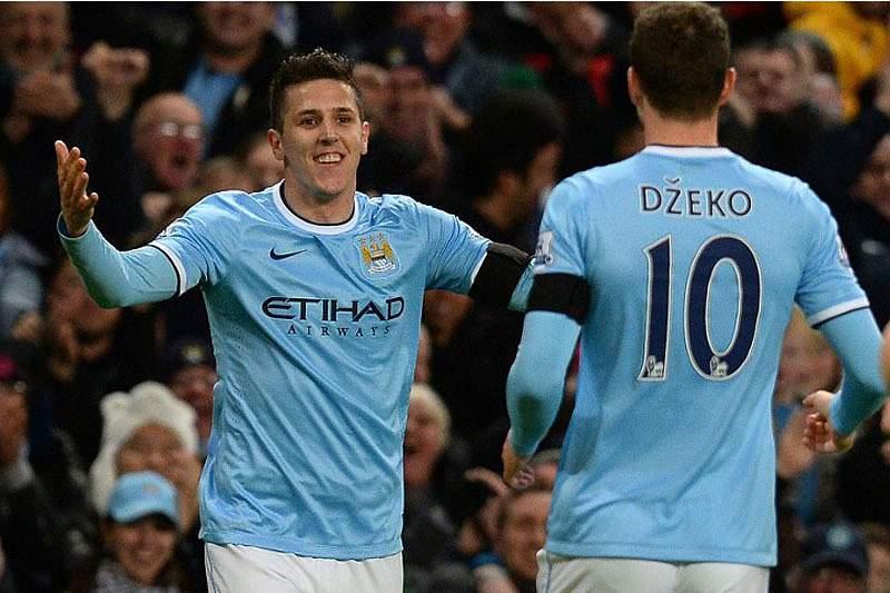 Jovetic não tem tido motivos para sorrir em Manchester
