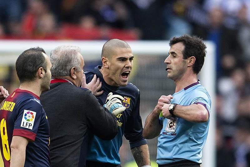 Valdés, ex-guarda-redes do Barcelona
