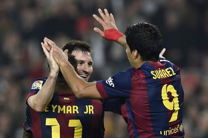 Messi, Neymar e Suárez