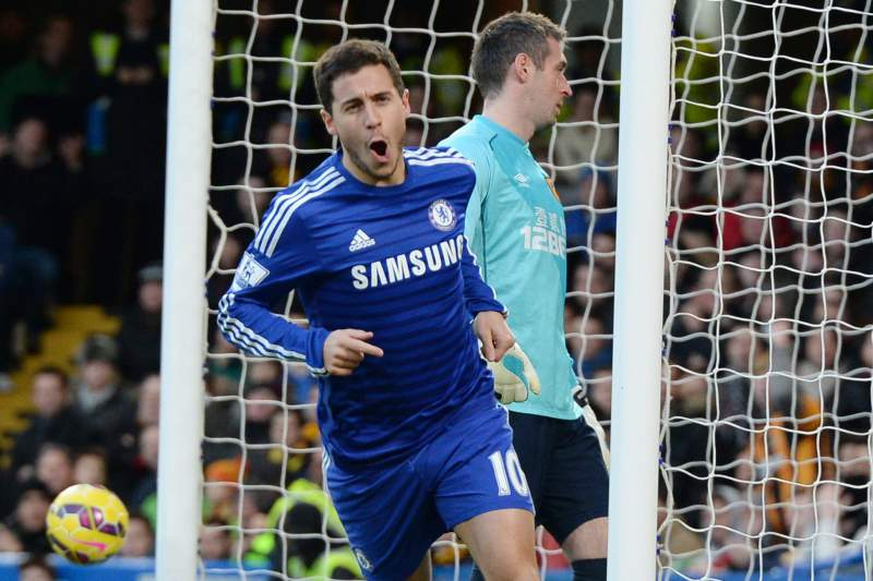 Hazard celebra o golo frente ao Hull City