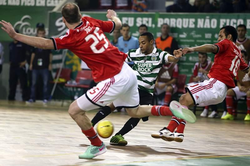 André Gaivão, do Sporting, Joel Queiróz e Serginho Paulista