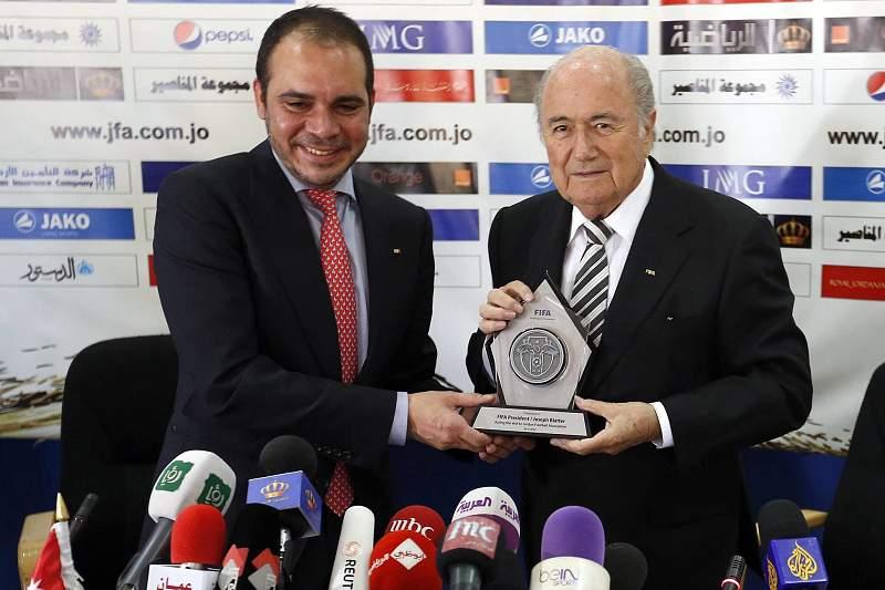 Ali Bin al Hussein e Blatter