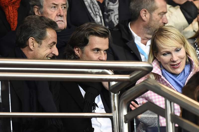 Vincent Labrune com Sarkozy