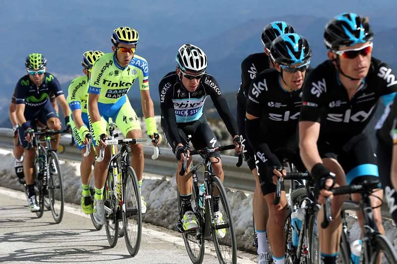 Alberto Contador em ação na Volta à Catalunha