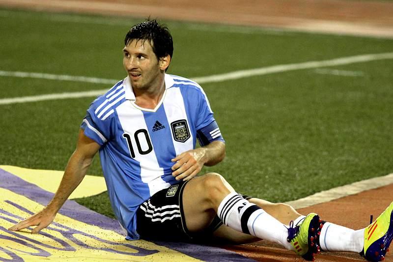 Messi com a camisola da Argentina