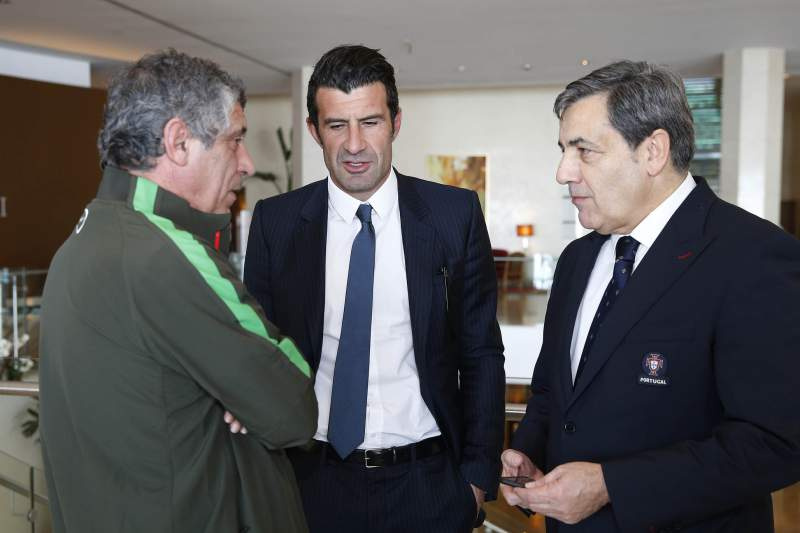 Luís Figo visitou a Seleção Nacional
