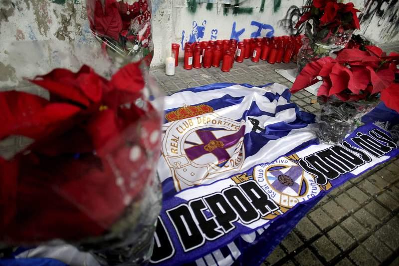 Homenagem ao adepto do Deportivo que faleceu