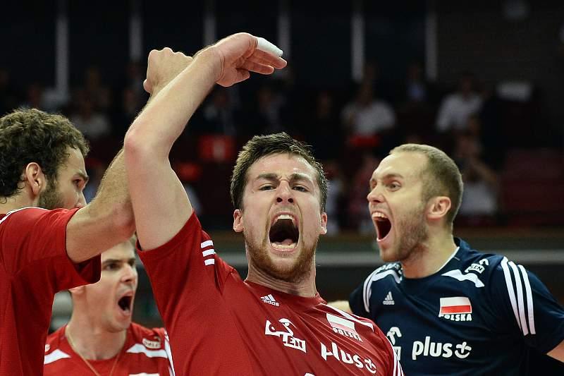 Pawel Zatorski celebra vitória da Polónia