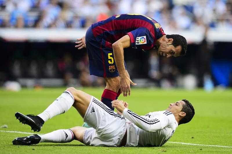 Busquets e Ronaldo