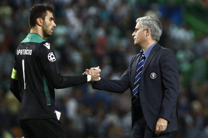 Rui Patrício e José Mourinho