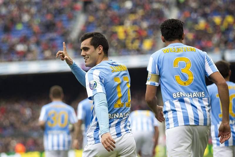 Málaga festeja golo