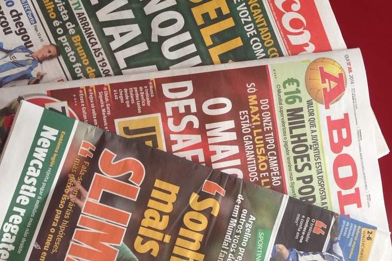 capas jornais