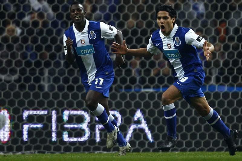 Falcao festeja golo com o FC Porto