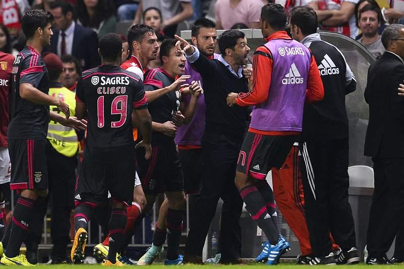 Sérgio Conceição foi expulso no Braga-Benfica