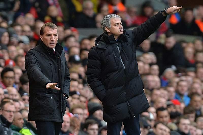 Brendan Rodgers e José Mourinho