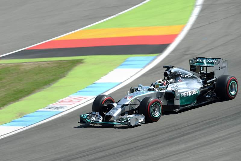 Hamilton no circuito de Hockenheim