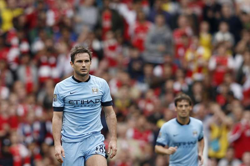 Frank Lampard com a camisola do Manchester City
