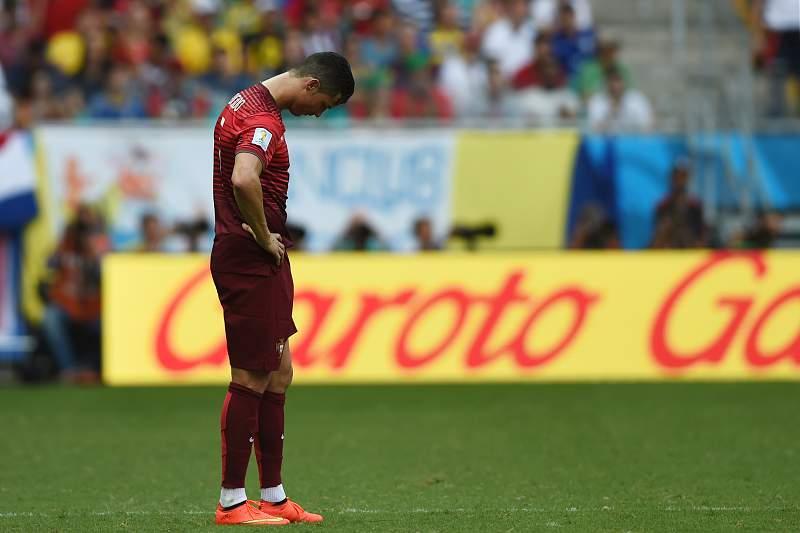 Cristiano Ronaldo na derrota com a Alemanha