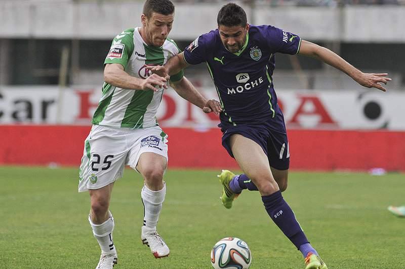 Pedro Tiba num jogo frente ao Sporting