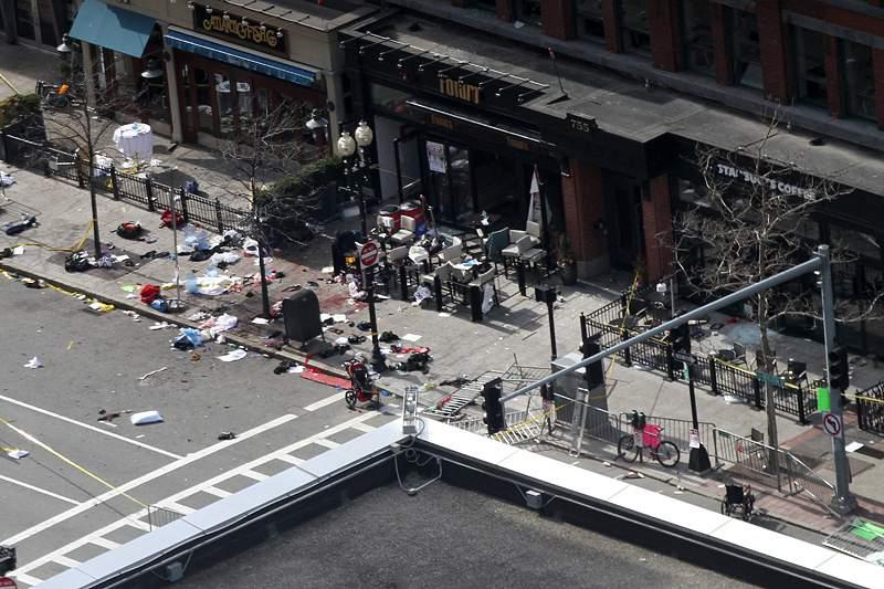 Imagens do atentado na Maratona de Boston