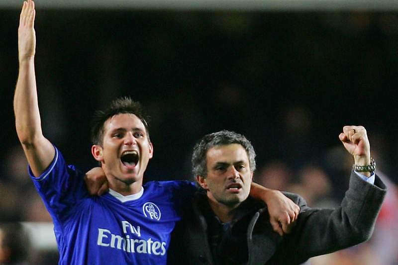 Lampard com José Mourinho