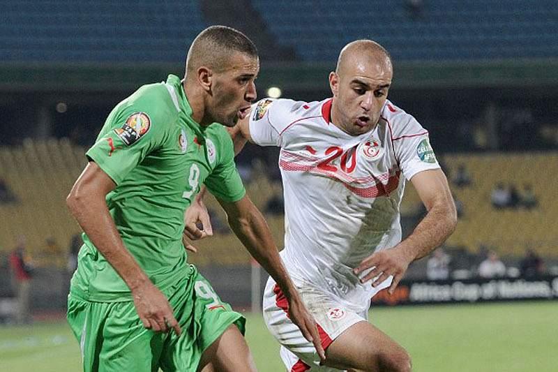 Slimani com a seleção da Argélia