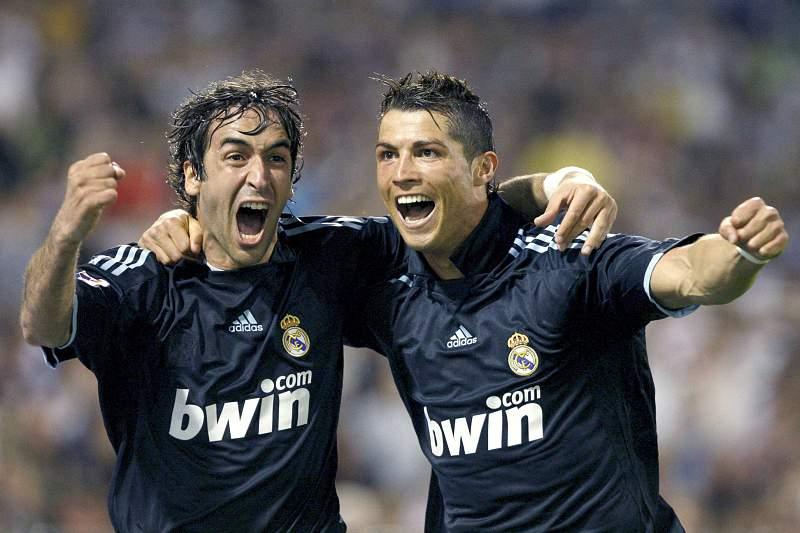 Cristiano Ronaldo e Raúl jogaram juntos no Real Madrid